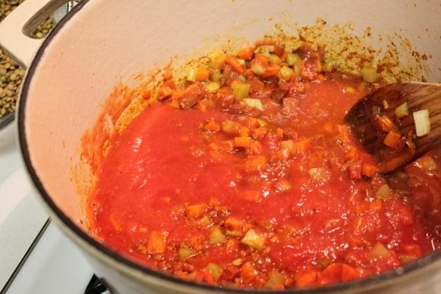 Sopa de Lentejas con Chorizo | comida mexicana por mexico en mi cocina