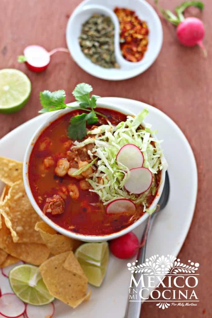 Pozole Rojo - Deliciosa receta muy fácil de hacer de Pozole rojo
