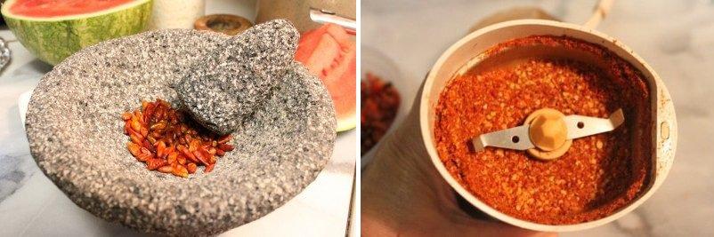Instrucciones polvo de chile piquin