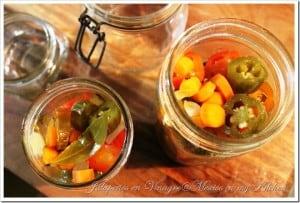 Como hacer chiles jalapeños en vinagre o escabeche