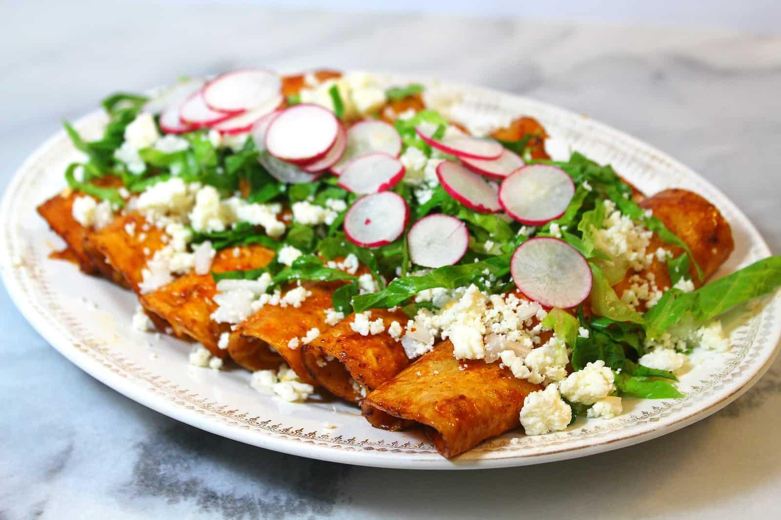 c243mo hacer enchiladas rojas recetas de comida mexicana