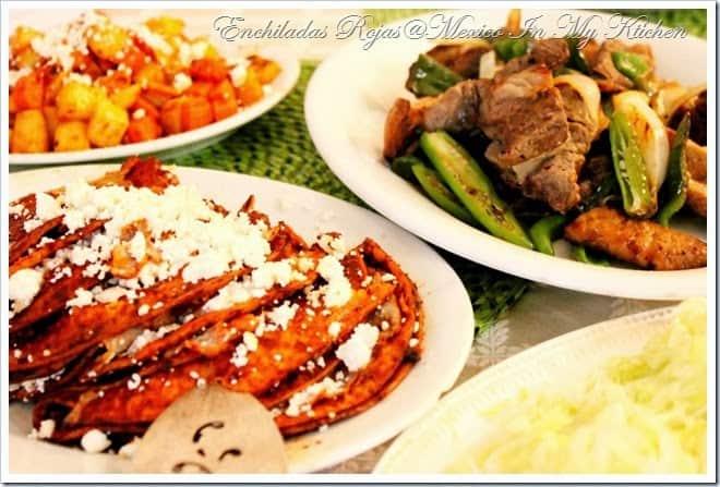 disfruta de esta deliciosa receta de enchiladas rojas