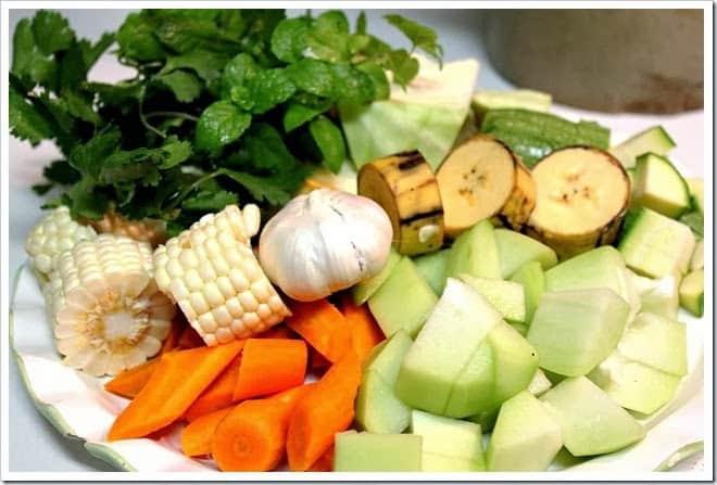 ingredientes para el Caldo de Res, Puchero o Cocido