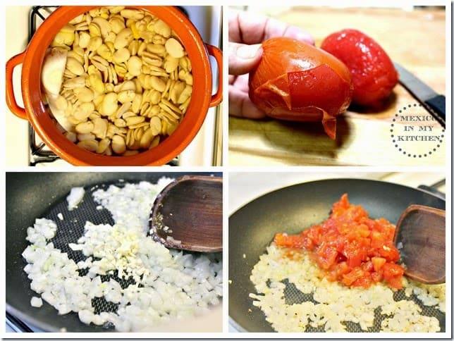 Sopa de habas y nopales receta paso a paso con im genes for Como se cocinan las habas