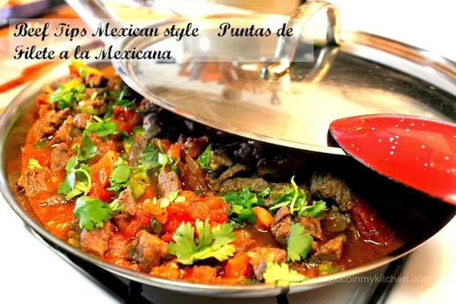 Puntas de Filete de Res a la Mexicana