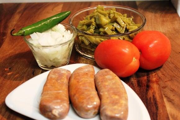 Nopales con Chorizo, deliciosa receta