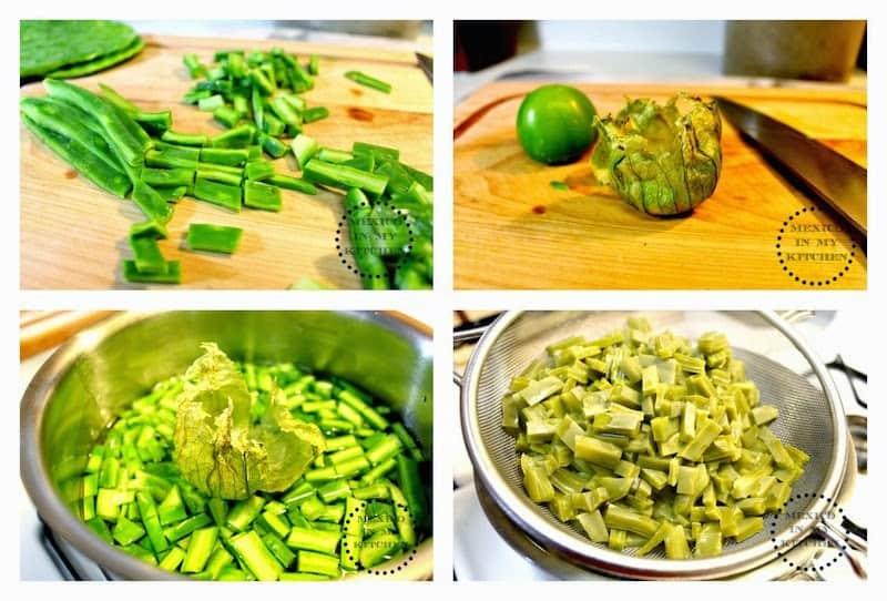 Cómo Cocinar Nopales, instrucciones paso a paso