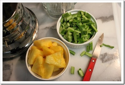 ingredientes para el licuado de nopales