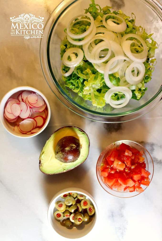 para la ensalada de esta deliciosa receta Salpicón de res