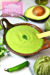 Clásica salsa verde con aguacate cremosa