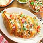 Receta Tacos Dorados de Papa