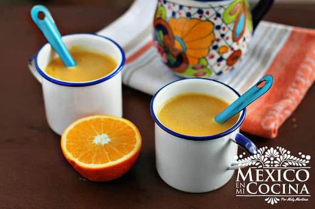 Atole de Naranja | comida mexicana