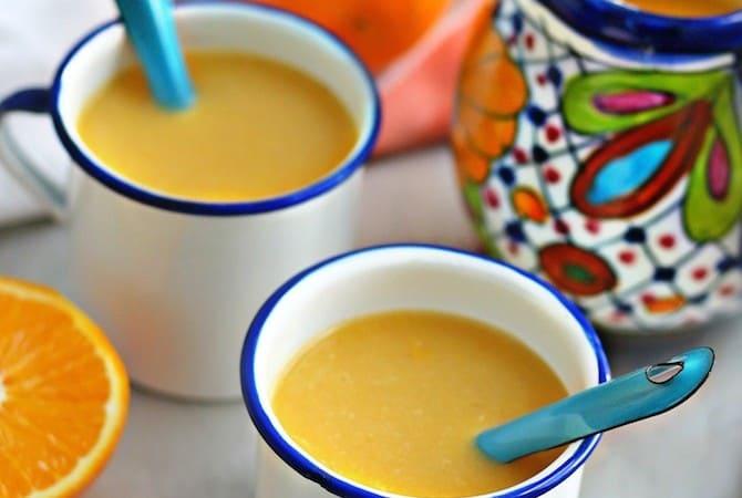 Receta Atole de Naranja
