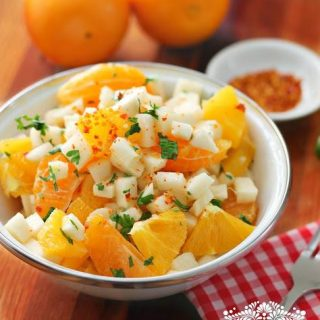 Ensalada Xec de Jicama con Naranja