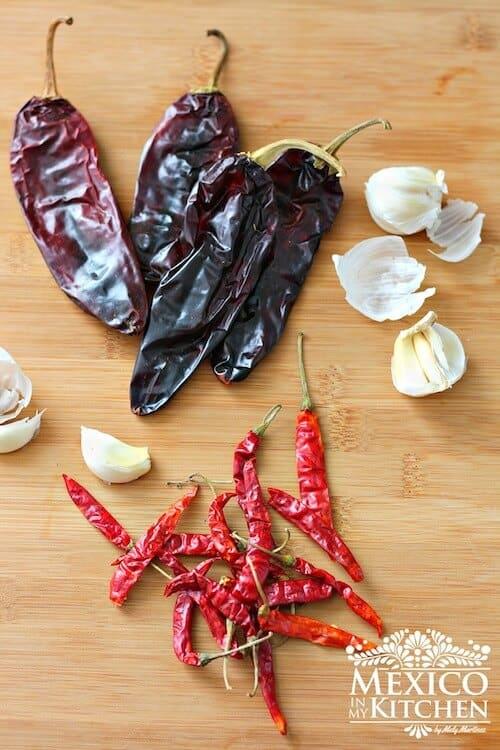 Receta Salsa roja para tacos, chiles