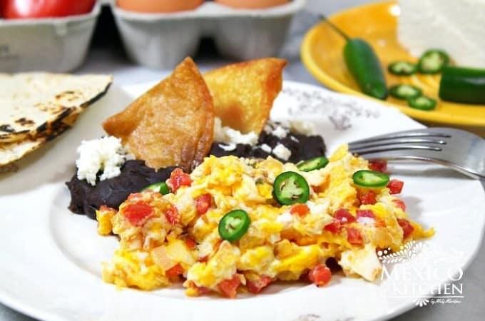 Receta Huevos a la Mexicana