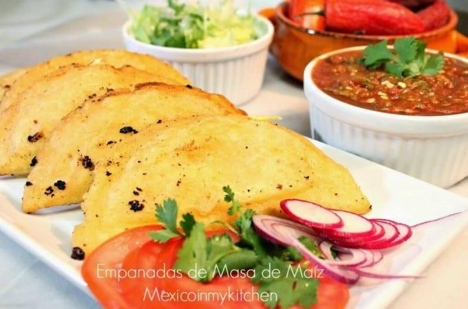 Receta Empanadas con masa de maíz