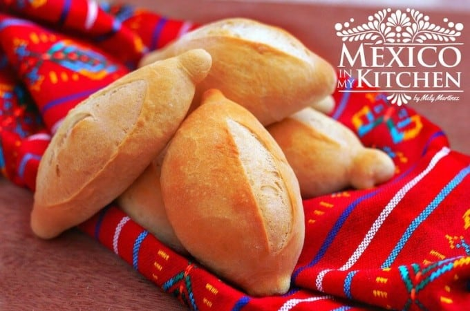 Receta Pan francés o bolillos