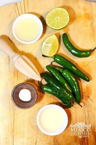 Chiles toreados, ingredientes necesarios