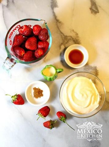 Fresas con crema, acompáñame a preparar esta deliciosa receta