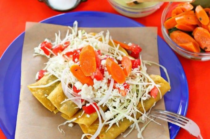 Receta Cachetadas, tacos de Tampico