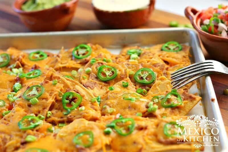 nachos tradicionales, disfrútalos con tu familia
