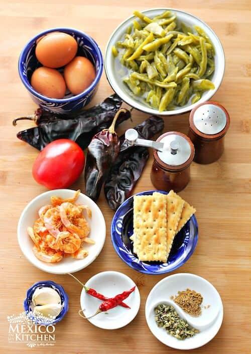Camarones secos, ingredientes