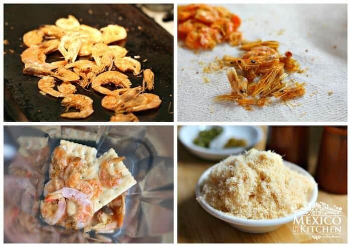 Receta tortitas de camarón en salsa roja │Instrucciones paso a paso