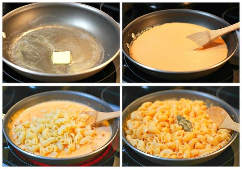 coditos con queso amarillo y pimiento morrón recetas mexicanas