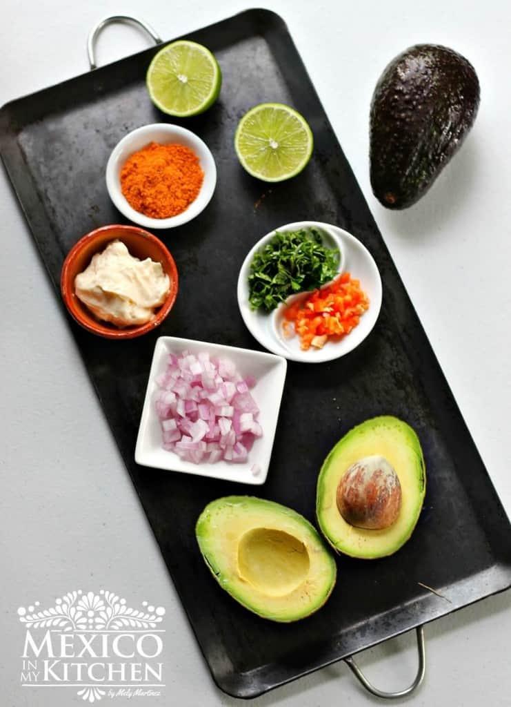 Guacamole cremoso con chile habanero, ingredientes