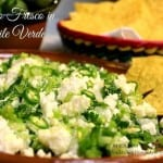 Queso fresco en salsa verde