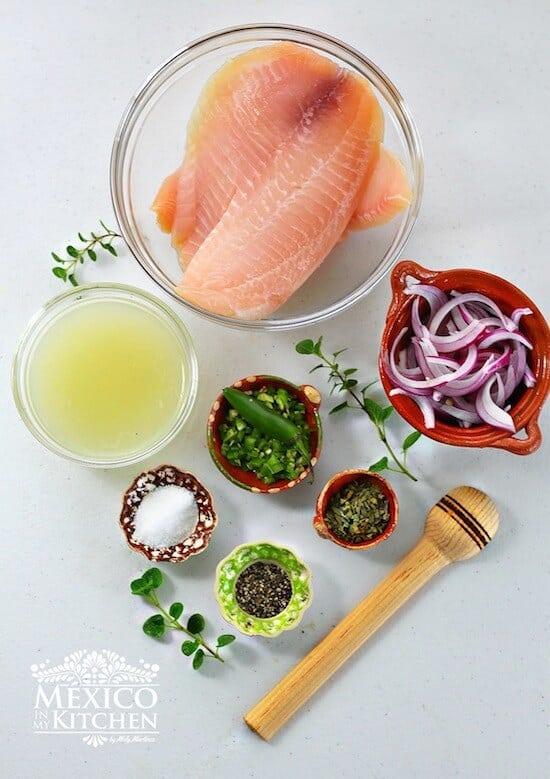 Tiritas de Pescado, ingredientes