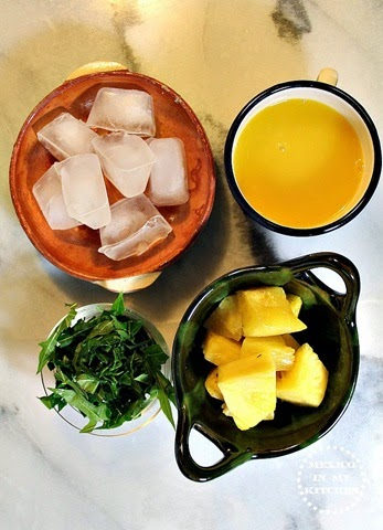 Agua de Chaya con piña, ingredientes necesarios