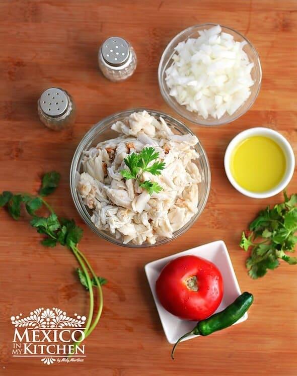 Empanadas de jaiba o cangrejo, ingredientes