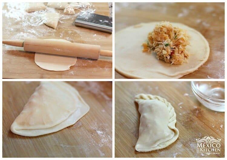Empanadas de Jaiba o Cangrejo, prepara la masa para las empanadas