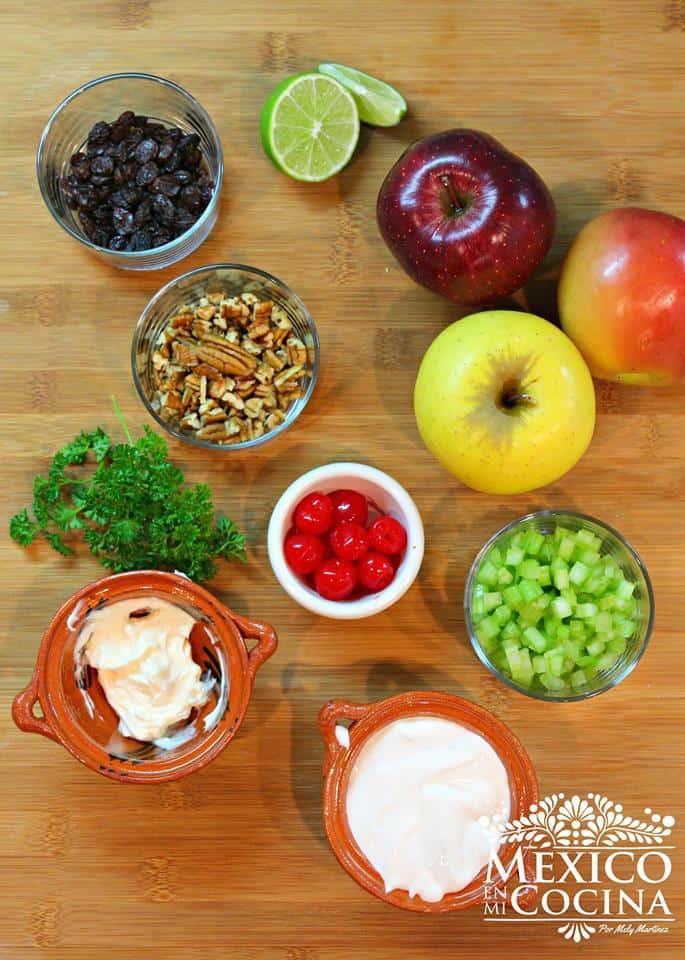 Ensalada Navideña con Manzanas | Ingredientes para preparar esta deliciosa receta