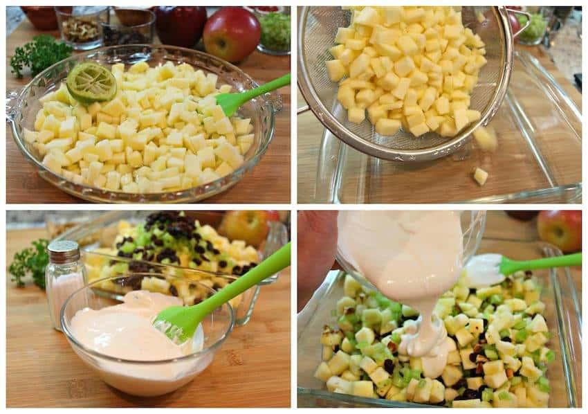 Ensalada Navideña con Manzanas | Instrucciones paso a paso con imágenes