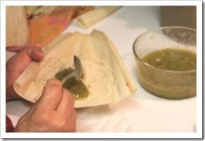 Tamales de pollo en salsa verde, paso a paso
