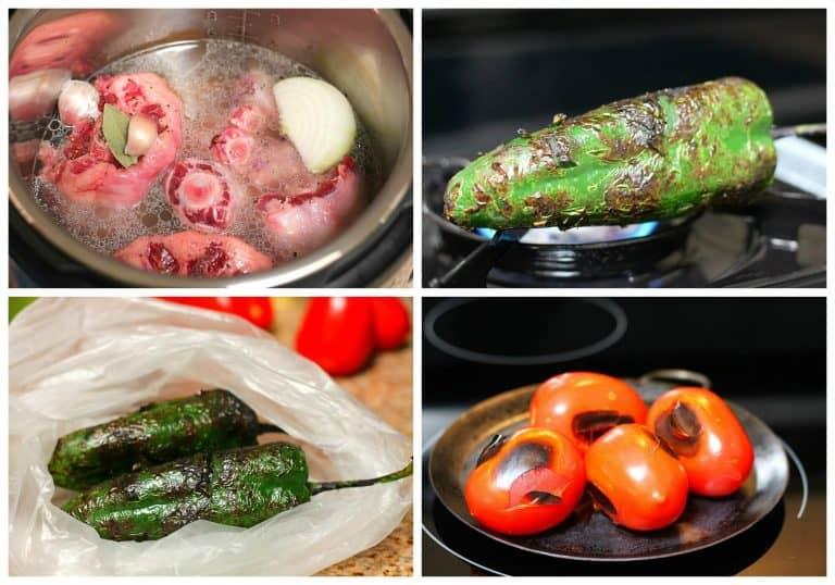 Estofado de cola de res con chiles Poblano | Instrucciones paso a paso