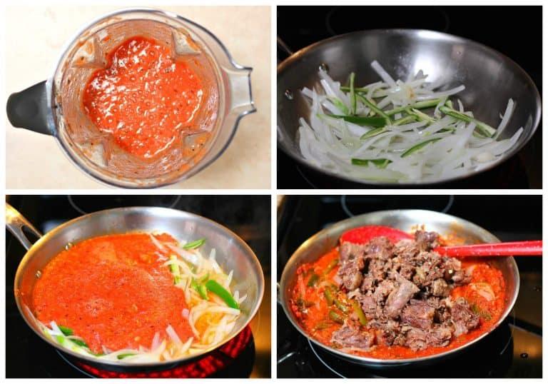 Estofado de cola de res con chiles Poblano | tutorial gratis