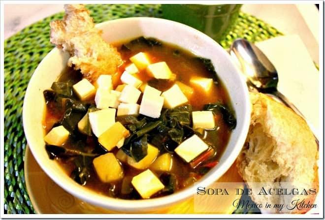Sopa de Acelgas con Papas | Recetas de comida mexicana