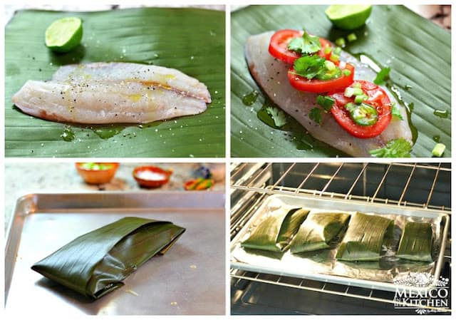 Receta Filetes de pescado empapelados │ Instrucciones paso a paso