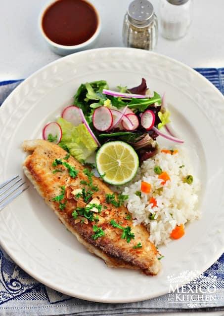 Filetes de pescado │tilapia al ajo o ajillo