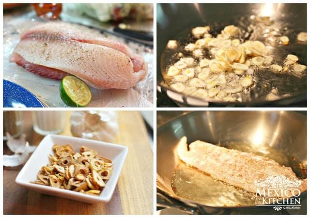 Filetes de pescado al mojo de ajo │Mexico en mi cocina