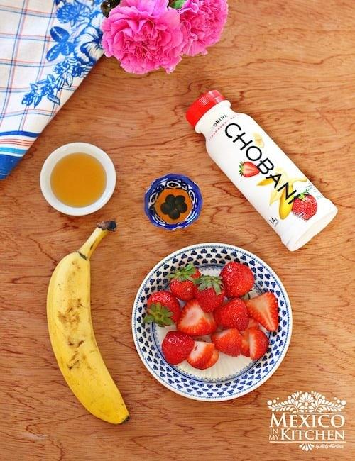 Licuado de Yogurt con fresas y plátano │Ingredientes para este delicioso batido