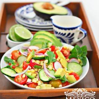 Receta Ensalada de Aguacate, Tomate y Elote