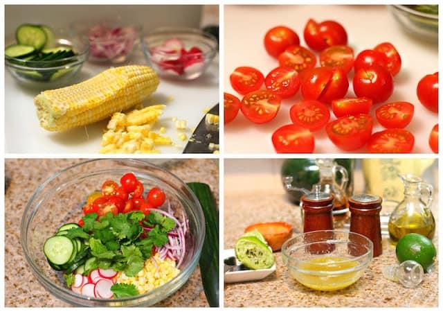 Ensalada de Aguacate, Tomate y Elote │Instrucciones paso a paso