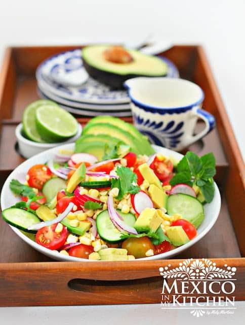 Receta Ensalada de Aguacate, Tomate y Elote │ Comida mexicana