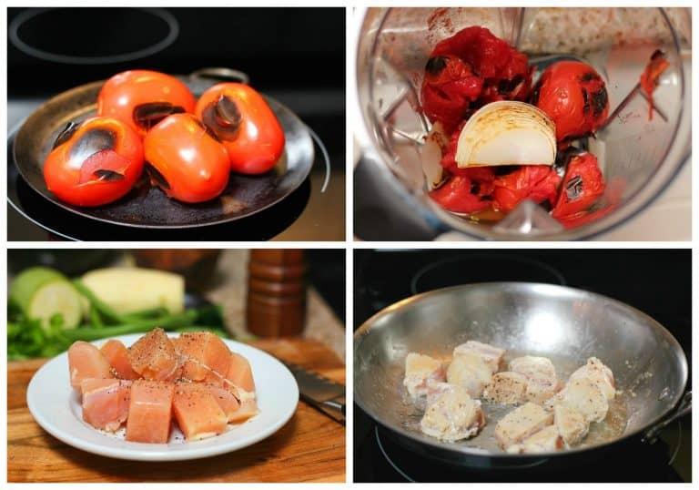 pechugas de pollo con verduras │Instrucciones paso a paso