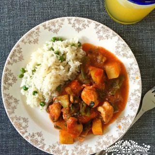 Receta Pechugas de Pollo con Verduras